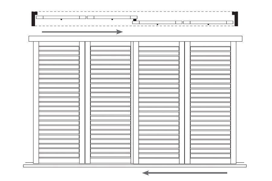 4 Panel Slider – 2 Tracks BBFF